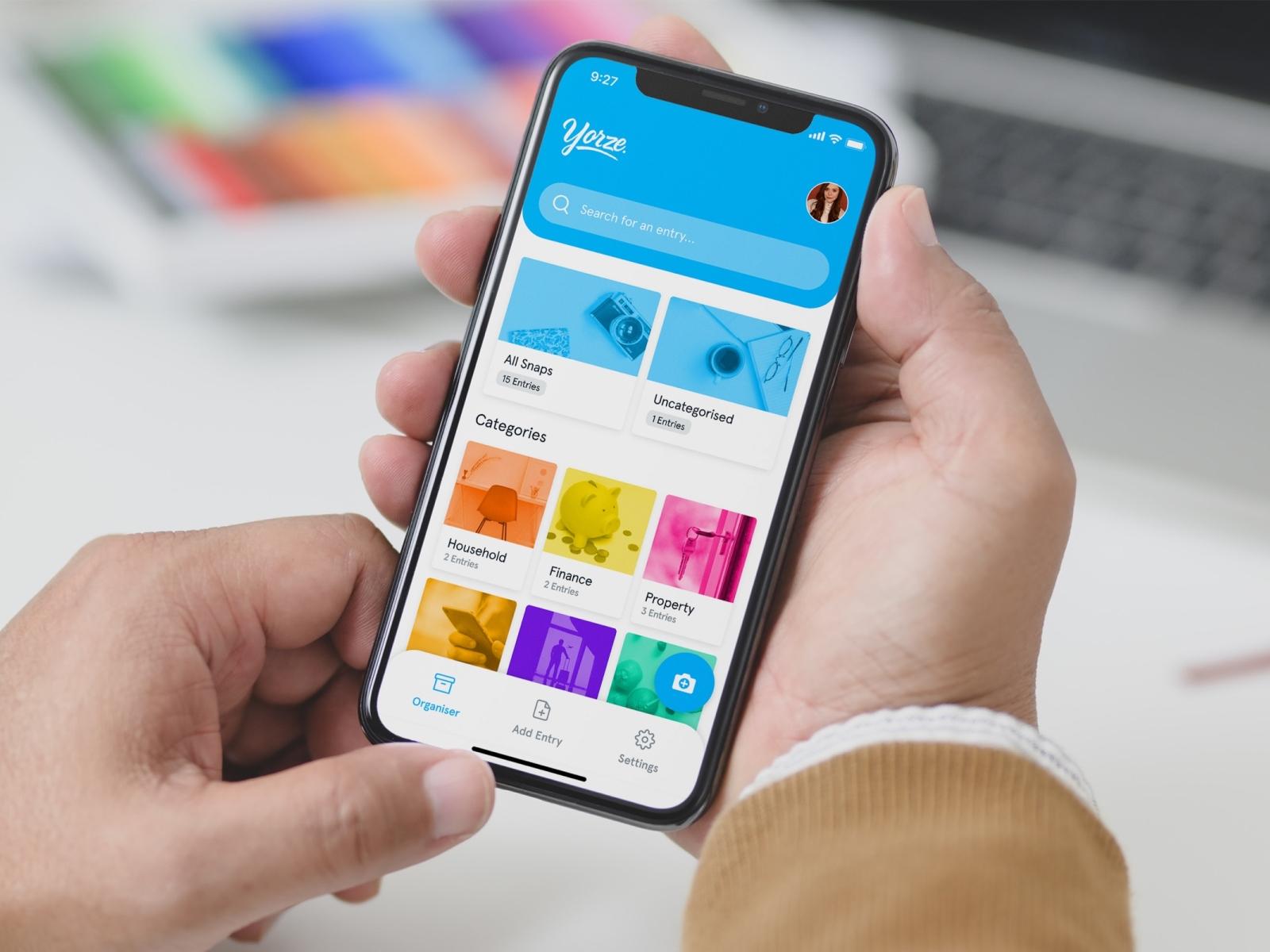 Filing App Home Screen