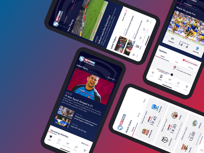 Rugby League App concept rugby design marketing app web agency ux ui