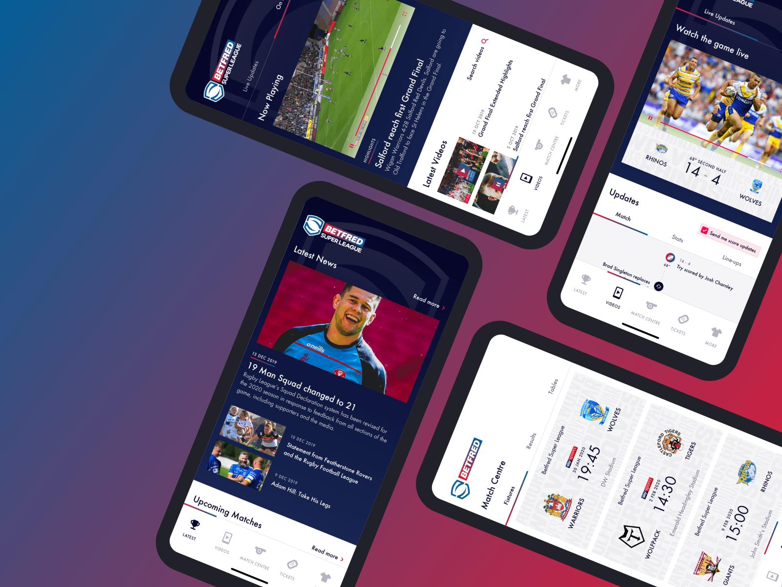Rugby League App concept