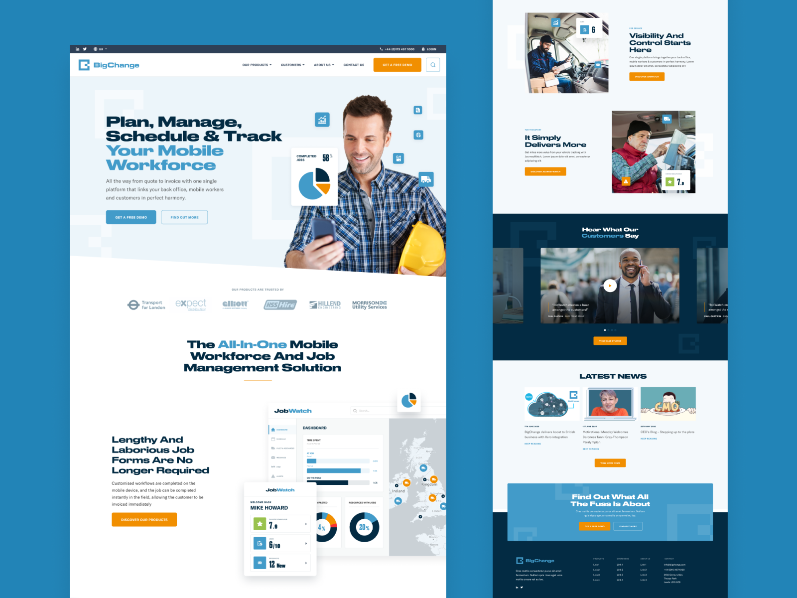 Delivery Company Homepage Concept