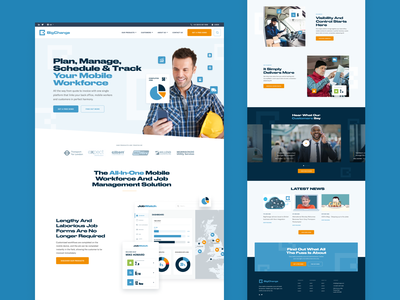 Delivery Company Homepage Concept leeds icons homepage responsive design marketing agency web ux ui