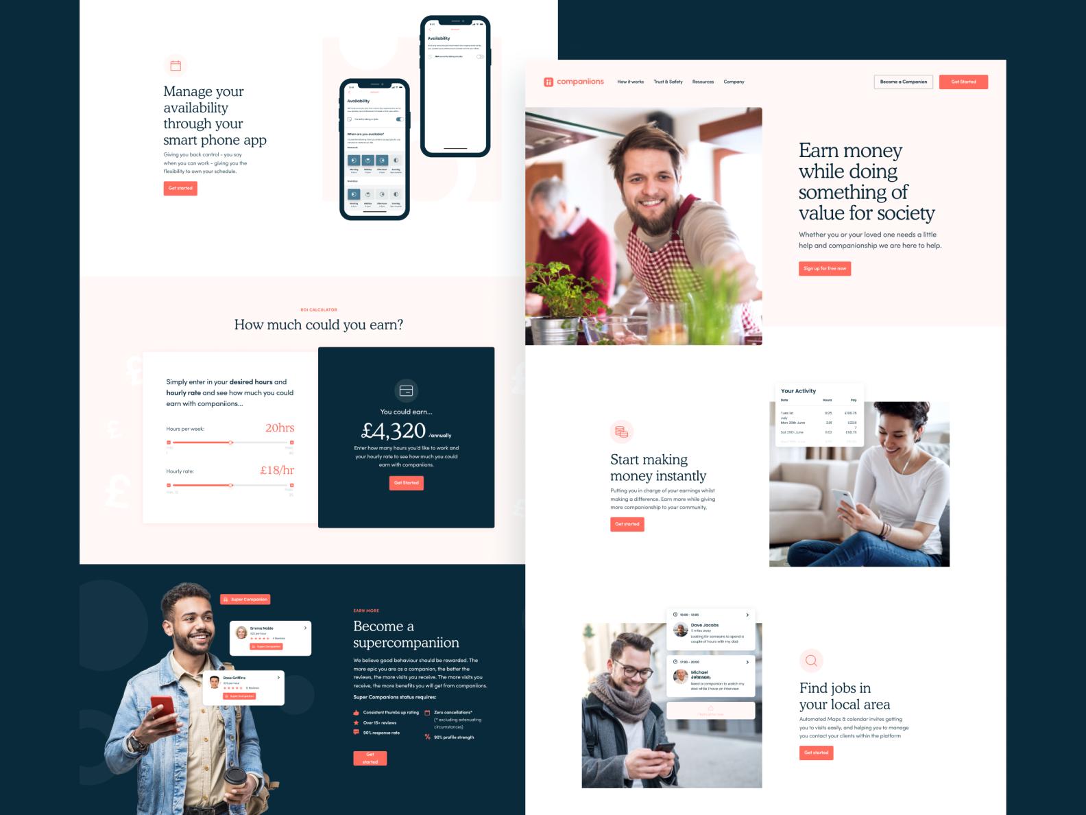 Companiiions - Feature Page