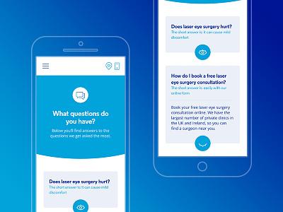 Accordian FAQ design website responsive web ux ui questions faq opticians