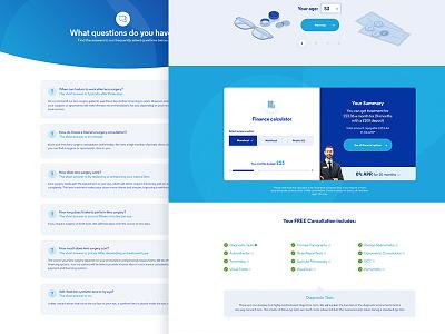 Opticians pages leeds lists web ux post user interface opticians faq calculator websites web design ui