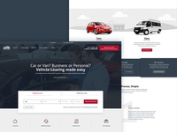 Car Leasing Homepage Concept