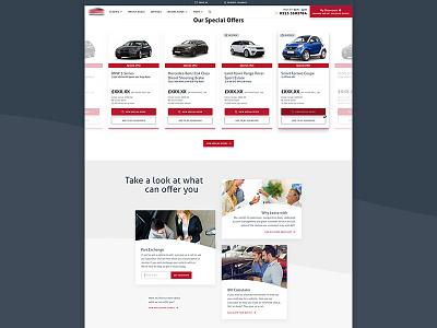 Car Leasing Homepage ux ui web leasing audi car responsive mobile icons cars