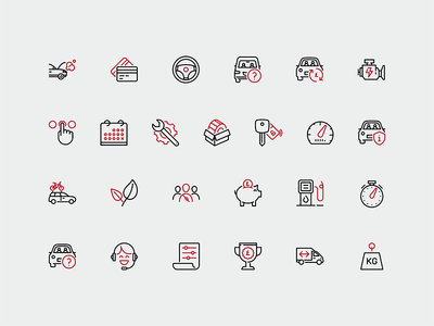 Car Leasing icons