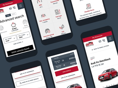 Car Leasing Mobile ui auto responsive mobile design vans cars leasing mobile