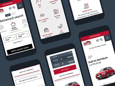 Car Leasing Mobile ui auto responsive mobile design vans cars leasing mobile