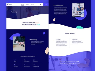 Training Page Template services training content layout ux landing template marketing agency marketing ui agency