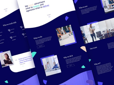 Marketing Agency Pages content layout ux landing about reviews testimonials homepage marketing agency marketing ui agency