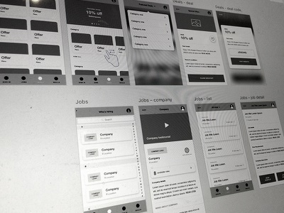 Wireframes ux lectures students ui app wireframes