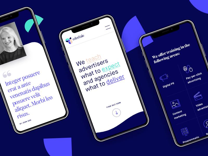 EdenYale site shapes ux mobile desktop ui marketing agency agency marketing