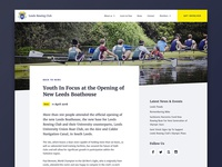 Rowing News article page template