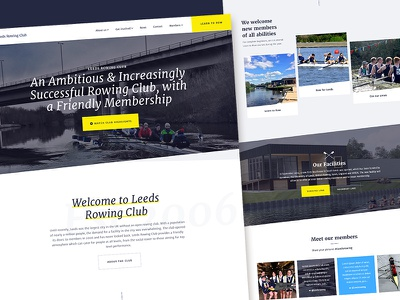 Leeds Rowing Club Homepage landing home homepage leeds rowing club articles ui ux blog rowing