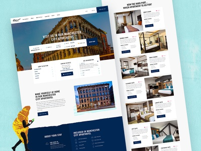 Roomzzz Location Page ux ui travel hotel homepage agency