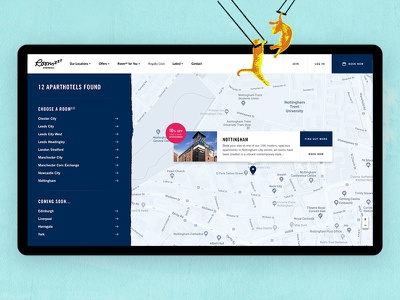 Roomzzz Location Map Page travel map ui hotel maps location web agency