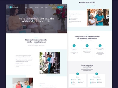 Carers Service Page services landing carers design agency web ux ui