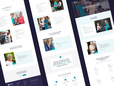 Carers pages design carers agency newyork ux ui
