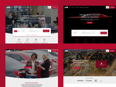 AMT Auto design flow marketing homepage responsive leasing cars agency web ux ui