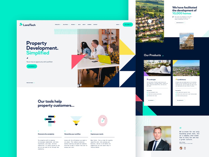 Property Development Product Homepage product product design property development property marketing agency web ux ui design