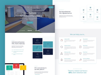 AML Compliance Homepage Mockup after effects animation after effects compliance aml marketing homepage web ux ui