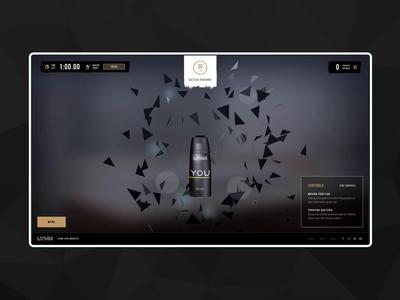 Lynx game  device previews responsive design agency webgl deodorants marketing app ux ui