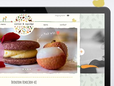 Cutter and Squidge food website omdesign london web design website design london website website design