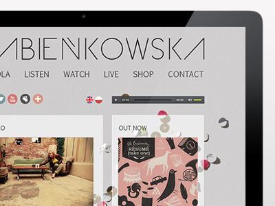Ola Bienkowska, Singer / Songwriter personal website web design website