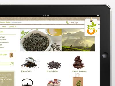 Tea Zone  website design e-commerce website website design london e-commerce omdesign food website