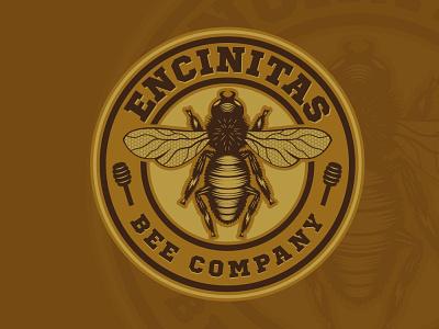 Encinitas Bee Company illustration branding vector logo