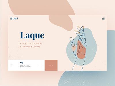 Manicure Studio Web design Concept liquid abstract gold nails hand manicure ux line art terrazzo artwork color illustration website webdesign web interface vector ui design