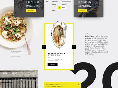 UI/Creative Vision Boards bold black yellow design ui creative vision web moodboarding