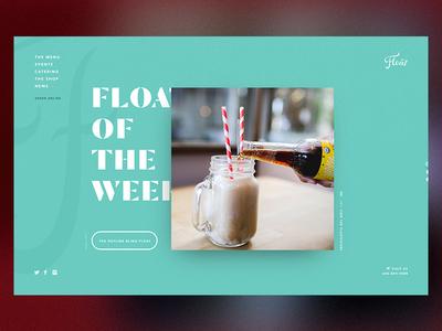 Home Concept  typography aqua blue viewport float design website web ui