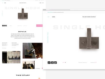 Product Detail Page shop product ui design web white minimal ecommerce