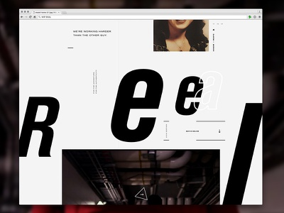 Film Group Site akzidenz grotesk typography design homepage ui web