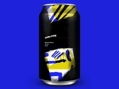 Ai Collab Beer photocopy ink black blue packaging alcohol minimal art design can craft beer beer