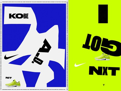 Kobe A.D. NXT Visual Exercise bright typography poster design basketball art direction apparel shoes nxt kobe nike druk