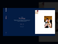 WIP Catering Horizontal Scroll ux ui interactive wordpress web typography pink blue webdesign website wedding design horizontal scroll