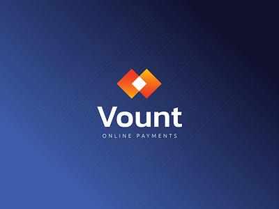 Vount Online Payments illustration sleek modern logo design design logo graphic design branding