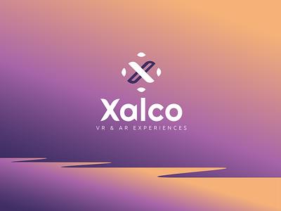 Xalco VR & AR vector illustration sleek modern logo design design logo graphic design branding
