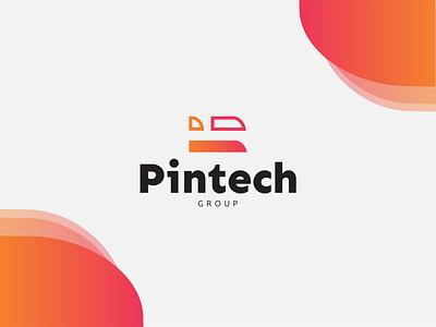 Pintech Group Branding sleek modern logo design design logo graphic design branding