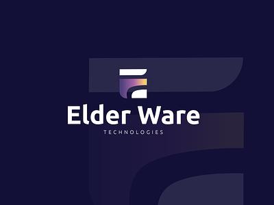 Elder Ware Technologies illustration sleek modern logo design design logo graphic design branding