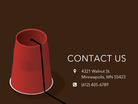 DailyUI 028 - Contact Us