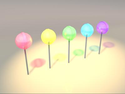 Lollipops 3d old work c4d lollipopd render