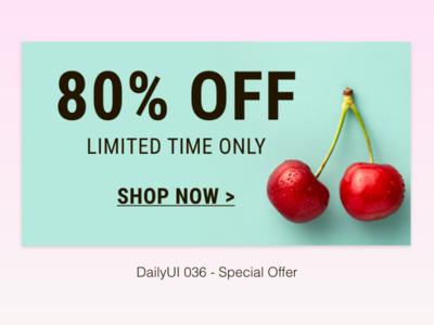 DailyUI 036 - Special Offer