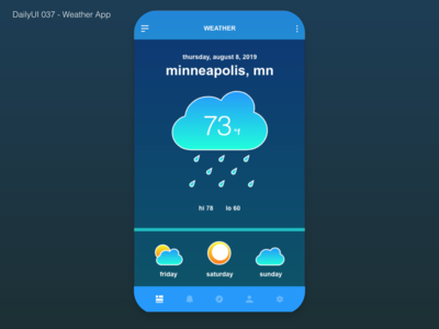 DailyUI 037 - Weather App