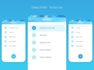 DailyUI 042 - To-Do List