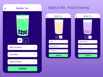 DailyUI 043 - Food Order