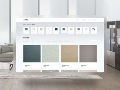 Tiles Marketplace product detail page interior ux ui marketplace